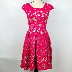 Yoana Baraschi Pink Lace Dress